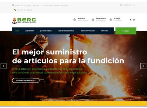 web corporativa Berg sl